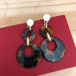 Brand new J.crew resin statement earrings